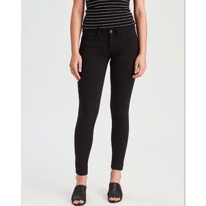 American Eagle Black Super Stretch Skinny Jeans 8